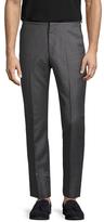 Jil Sander Wool Solid Flat Front Trousers