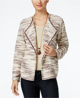 Style&Co. Style & Co. Space-Dyed Draped Jacket, Only at Macy's