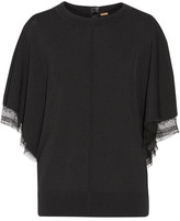 ADAM by Adam Lippes Lace-Trimmed Jersey Top