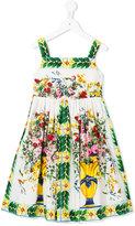Dolce & Gabbana Vase Majolica dress - kids - Cotton - 8 yrs