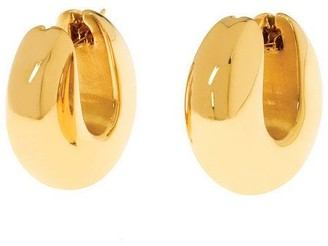 Arte d'Oro Bold Sculpted Round Hoop Earrings, 18K Gold