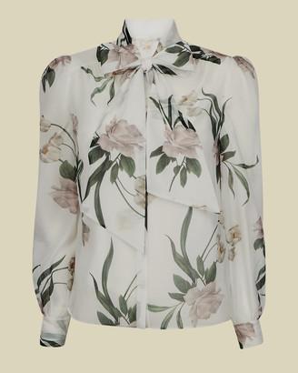 Ted Baker FARAI Elderflower bow neck blouse