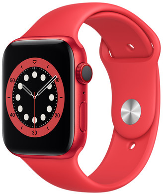 Apple Watch Series 6 GPS + Cellular, 44mm PRODUCT(RED) Aluminum Case with PRODUCT(RED) Sport Band - Regular