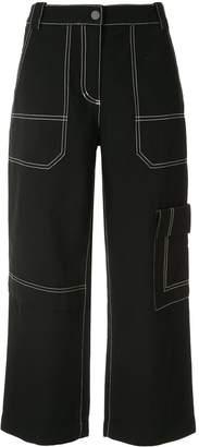 3.1 Phillip Lim cropped denim cargo pants