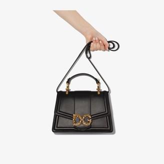 Dolce & Gabbana black Amore leather cross body bag