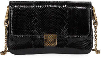 Bottega Veneta Ayers Snakeskin Wallet on Chain