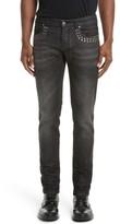 Versace Men's Studded Skinny Fit Jeans