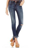 William Rast Destructed Fringe Hem Perfect Skinny Jeans
