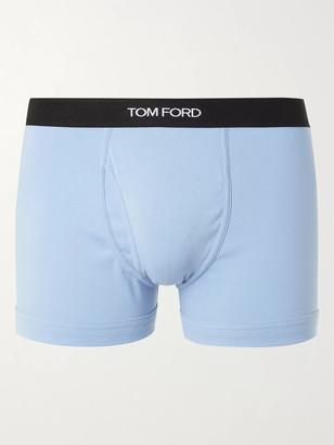 Tom Ford Stretch-Cotton Jersey Boxer Briefs - Men - Blue
