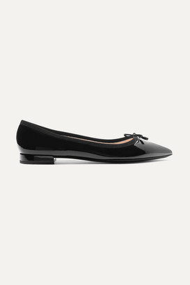 Prada Patent-leather Ballet Flats - Black