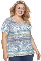 Croft & Barrow Plus Size Essential V-neck Tee
