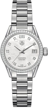 Tag Heuer Carrera Mother-Of-Pearl Automatic 28mm Watch