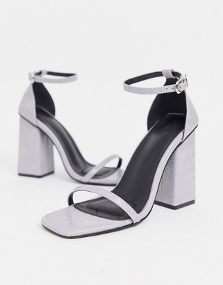 Co Wren square toe block heeled sandal