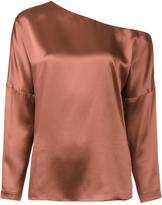 Tibi cold-shoulder detail blouse - women - Silk - L