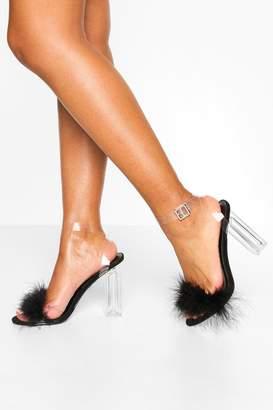 boohoo Feather Clear Heel 2 Parts