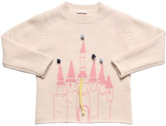 Il Gufo Embroidered Wool Knit Sweater