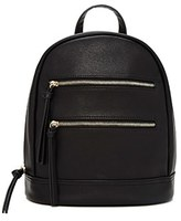Forever 21 FOREVER 21+ Faux Leather Zipper Backpack