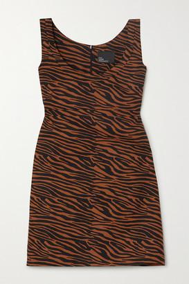 Lisa Marie Fernandez Net Sustain Zani Zebra-print Linen Mini Dress - Brown