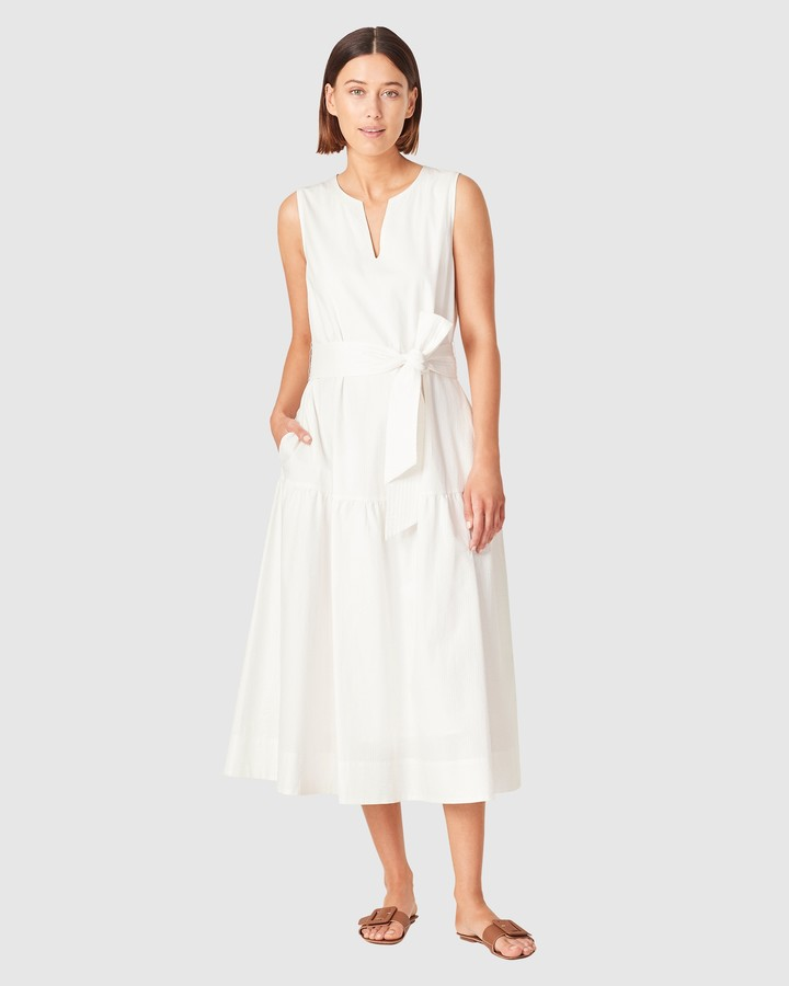 French Connection Women's Dresses - Textured Cotton Tiered Dress - Size One Size, 16 at The Iconic