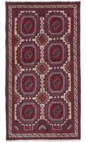 "Ecarpetgallery One-of-a-Kind Finest Baluch Hand-Knotted Runner 2'11"" x 6' Wool Red/Cream Area Rug"