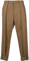 Marni cuffed chino trousers