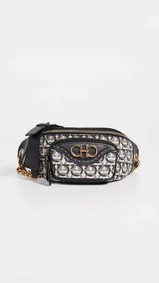 Salvatore Ferragamo Gancino Quilting Jacquard Belt Bag