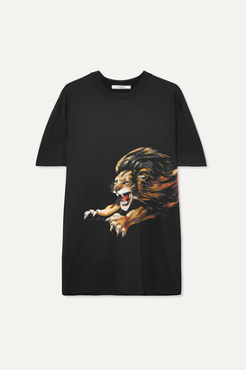Givenchy Leo Oversized Embroidered Printed Cotton-jersey T-shirt - Black