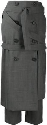 Enfold Asymmetric Pencil-Skirt Trousers