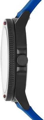 Skagen Men's Fisk 3-Hand Blue Silicone Watch, 42mm