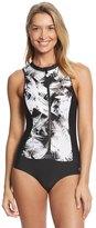 Next Women's Lush Palm Malibu Tank Zip One Piece Swimsuit 8149271