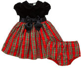 Little Me Baby Girls Two-Piece Plaid Dress and Bloomers Set