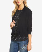 CeCe Cotton Bow-Cuff Cropped Cardigan