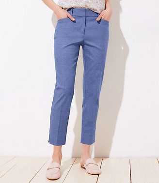 LOFT Chambray Riviera Pants in Curvy Fit
