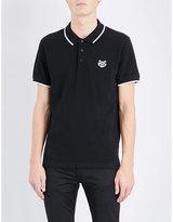 Kenzo Embroidered Cotton-piqué Polo Shirt