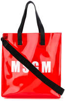 MSGM PVC branded shopper tote
