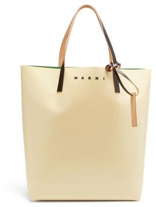 Marni Logo-print Pvc Tote Bag - Beige