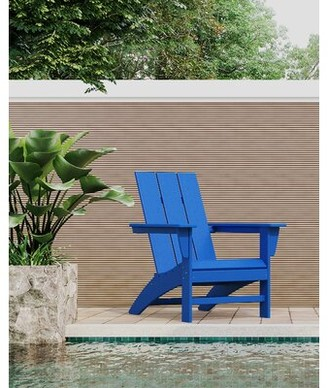 Polywood Modern Adirondack Recycled Plastic Chair Color: Pacific Blue