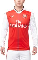 Puma 2016/17 Arsenal Home Replica Long Sleeve Jersey