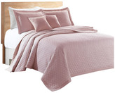 Sherry Kline Rombo Embroidered 3-piece Quilt Set, Pink, Queen