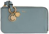 Chloé Blue Alphabet Zip Around Wallet