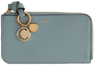Chloé Blue Alphabet Zip Around Wallet