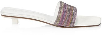 BY FAR Ceni Crystal Leather Mules