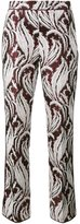 Giambattista Valli embroidered cropped trousers - women - Polyester/Acetate - 38
