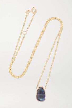 Lito Small Sienna 14-karat Gold Labradorite Necklace - one size