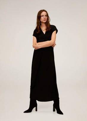 MANGO V-neckline long dress