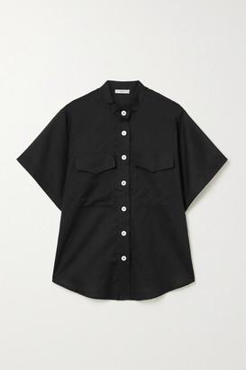 MATIN Cotton-voile Shirt - Black