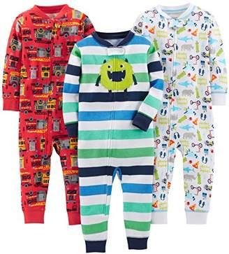 Carter's Simple Joys by Baby Boys' 3-Pack Snug Fit Footless Cotton Pajamas