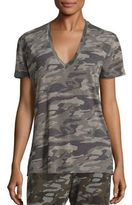 Monrow Short Sleeve Camouflage Print T-Shirt