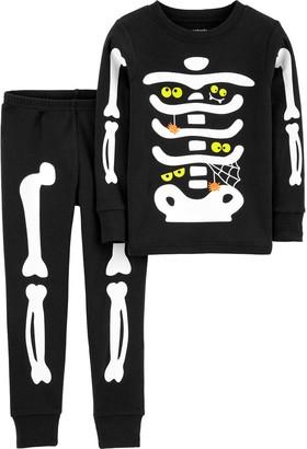 Carter's Baby Boy 2-Piece Halloween Skeleton Pajamas