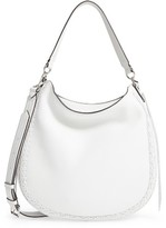 Rebecca Minkoff Unlined Convertible Whipstitch Hobo - White